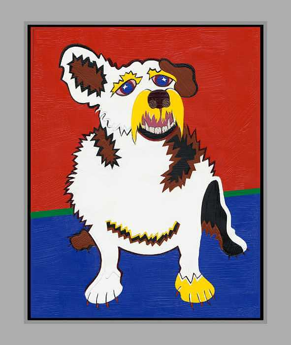 Surrealism Painting - Gibby The Mighty Jack by Ruby Persson