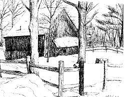 Fram Drawing - Gilbert Dean Drive by Lisa Guarino