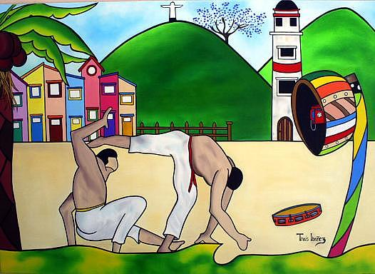 Ginga Brazuka Painting by THAIS IBANEZ  Tropical Art