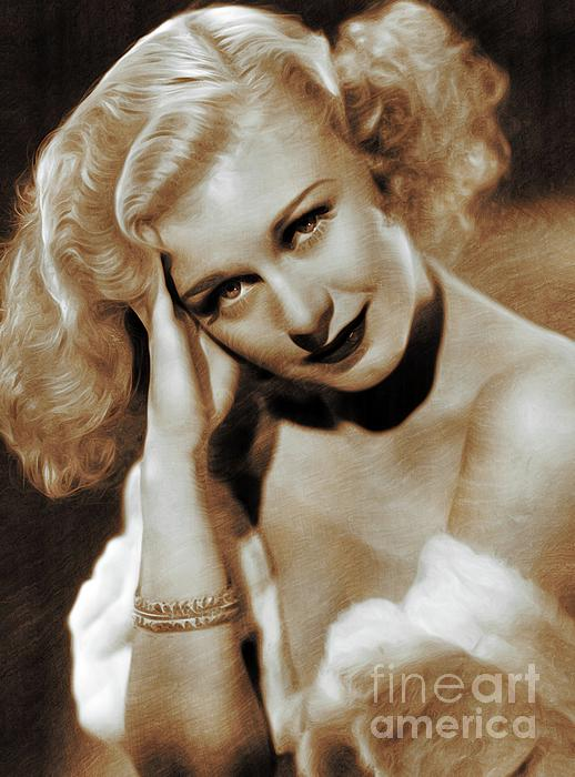 Ginger Painting - Ginger Rogers, Actress by John Springfield