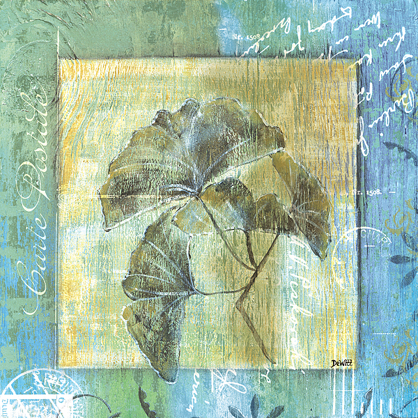 Ginkgo Painting - Ginkgo Spa 1 by Debbie DeWitt