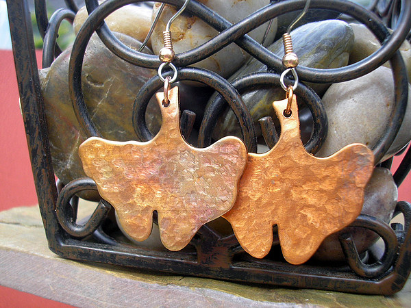 Copper Jewelry - Ginko Leaves by Angie DElia