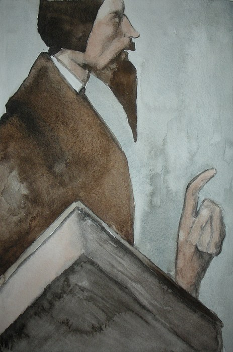 Giovanni Calvino Painting by Jeremiah Cook