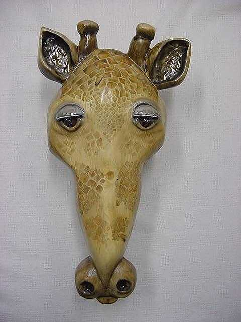 Wooden Eye Painting - Giraffe 2-sold by Lisa Ruggiero