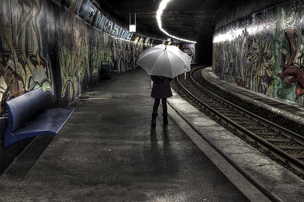 Girl Photograph - Girl At Subway Station by Joana Kruse