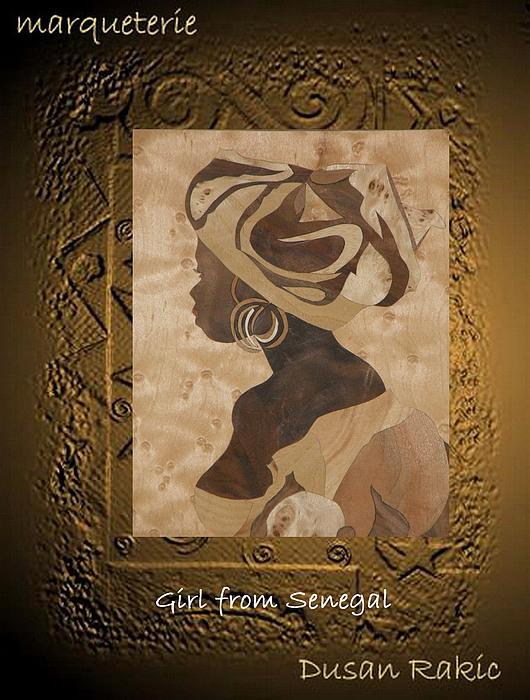 Portrait Mixed Media - Girl From Senegal by Dusan Rakic