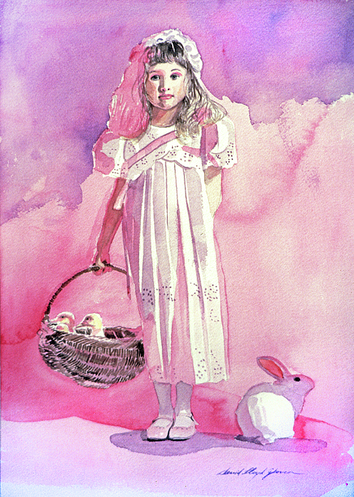 Girls Painting - Girl In Pink by David Lloyd Glover