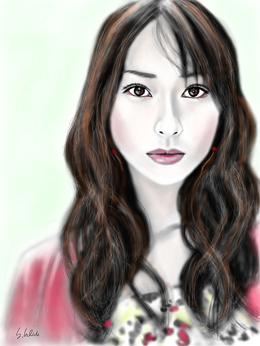 Ipad Painting - Girl No.184 by Yoshiyuki Uchida