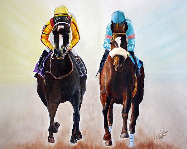 Contemporary Horse Paintings Painting - Girl Power by Jennifer Godshalk