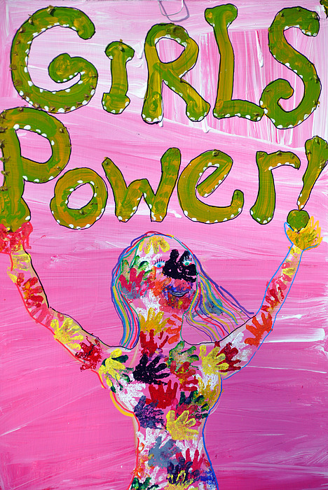 Girl Power Photograph - Girl Power Sign by Rose  Hill