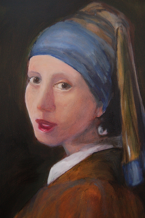 Vermeer Painting - Girl With A Pearl Earring - Reproduction by Lisa Konkol