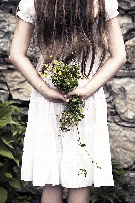 Girl Photograph - Girl With Flowers by Joana Kruse