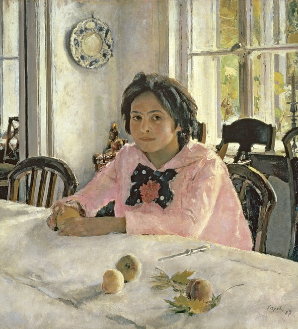 Girl Painting - Girl With Peaches by Valentin Aleksandrovich Serov