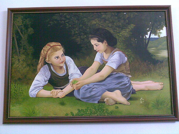 Girls Painting by Samaneh Daemi