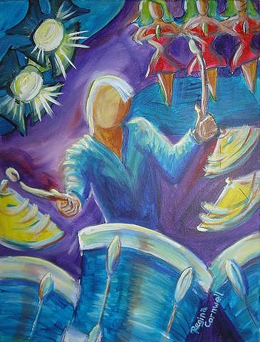 Jazz Painting - Give Me A Beat by Regina Walsh