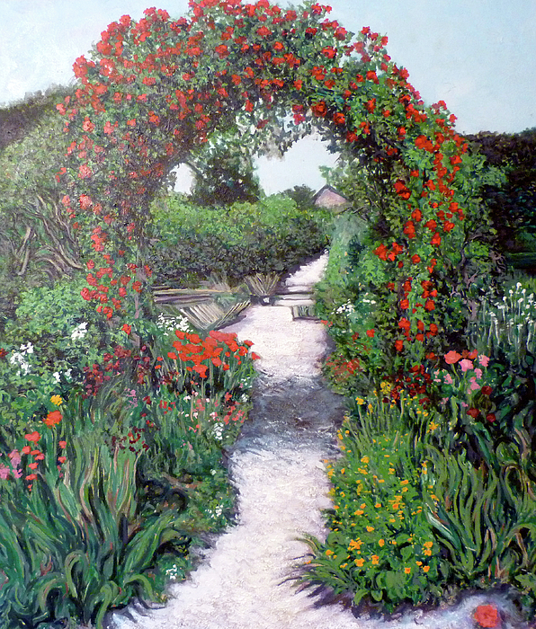 Monet Painting - Giverney Garden Path by Tom Roderick