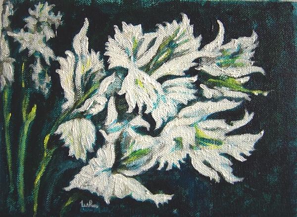 Gladioli Painting - Gladioli by Usha Shantharam
