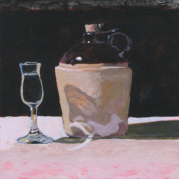 Glass Painting - Glass And Jug by Robert Bissett