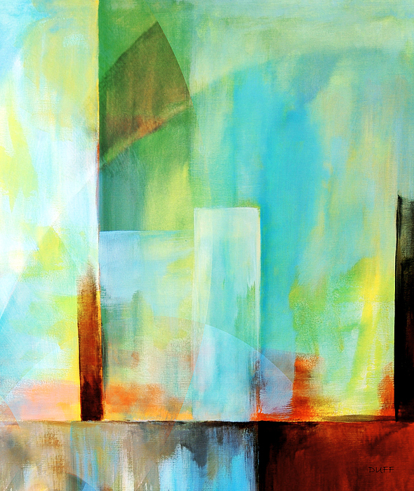 Abstract Painting - Glass Houses Vi by Josie Duff