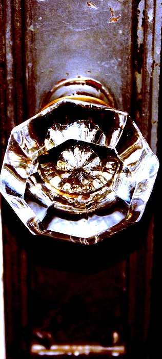 Glass Photograph - Glass Knob by Brenda Myers
