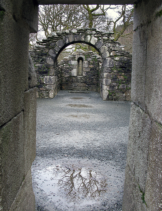 Monestery Photograph - Glendalough Monestery Ireland Priests House by Richard Singleton