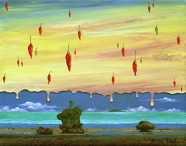 Chilies Painting - Global Meltdown by Sharon Ebert