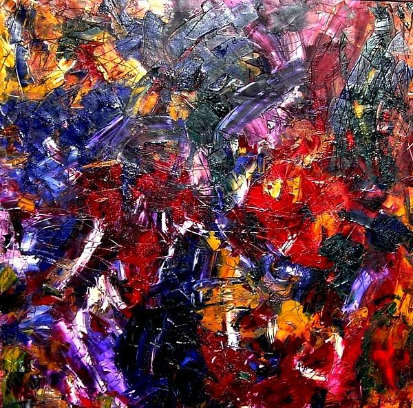 Abstract Painting - Global Rhythm  by Fareeha Khawaja