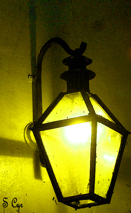 Lantern Digital Art - Glowing Yello by S Cyr