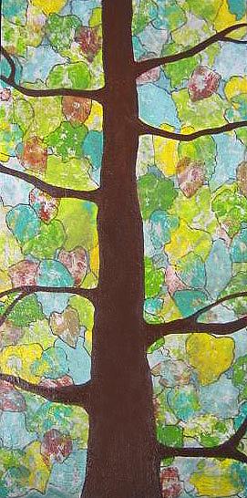 Tree Painting - Go Green by Kristen Lee Klein