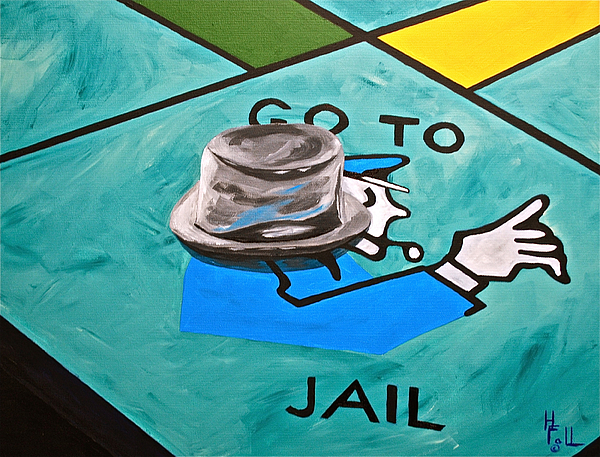 Go To Jail  Painting by Herschel Fall