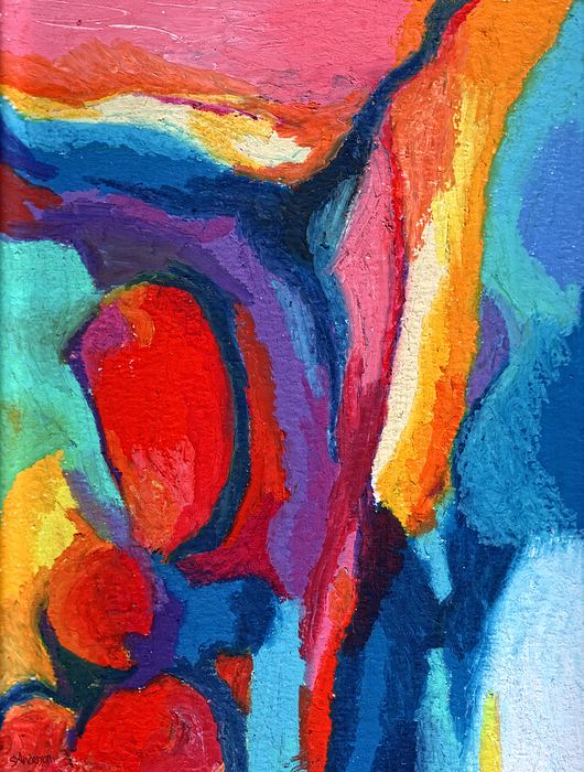 Abstract Painting - Go With The Flow by Stephen Anderson