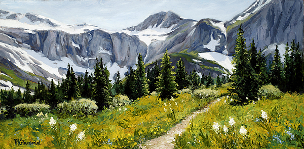 Mountains Painting - Goals by Mary Giacomini