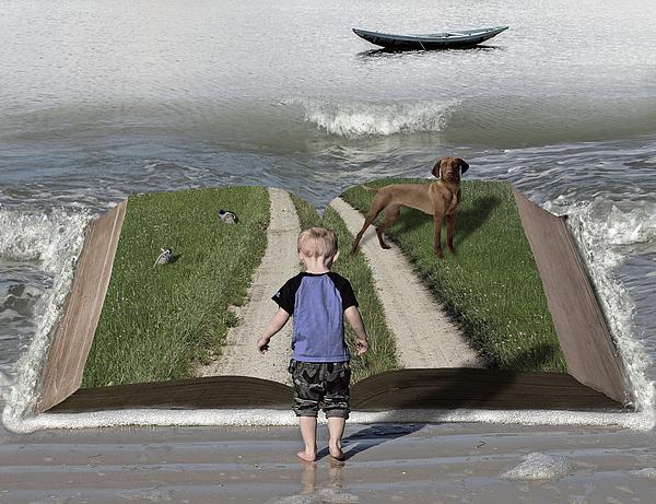 Young Boy Digital Art - Going Back Home by Solomon Barroa