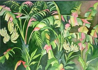 Tropical Painting - Going Bananas 2 by Bev Chudey