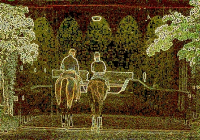 Horse Racing Digital Art - Going Out To Work by Gary Rogers