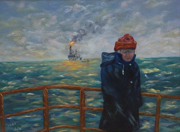 Workboat Painting - Going To Work by Douglas Ann Slusher