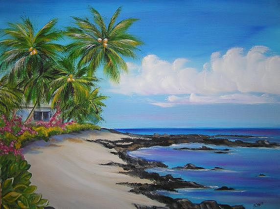 Beach Painting - Gold Coast by Shelley Hecht