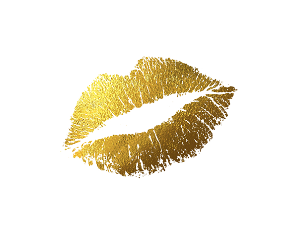 Gold Lips 11x14 Digital Art By BONB Creative