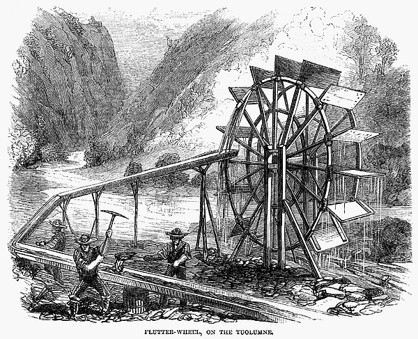 1860 Photograph - Gold Mining, 1860 by Granger