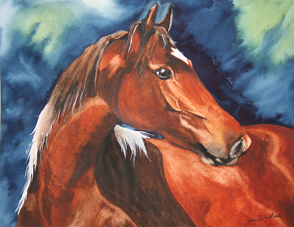 Horse Painting - Golden Boy by Jean Blackmer