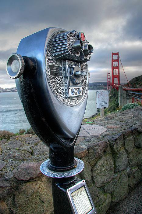 California Photograph - Golden Gate Binoculars by Peter Tellone