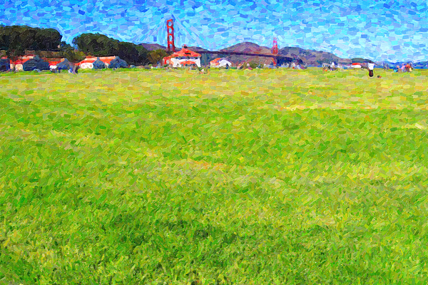 San Francisco Photograph - Golden Gate Bridge Viewed From Crissy Fields by Wingsdomain Art and Photography