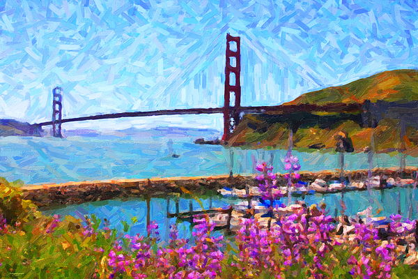 Sf Photograph - Golden Gate Bridge Viewed From Fort Baker by Wingsdomain Art and Photography