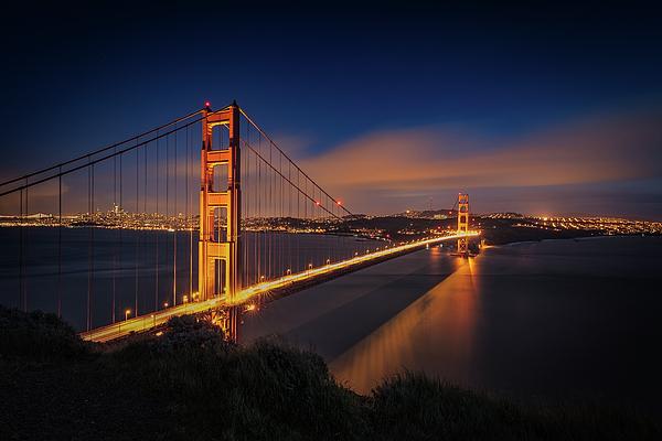 Alkatraz Photograph - Golden Gate by Edgars Erglis