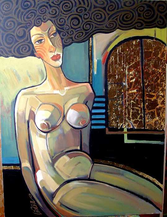 Nude Painting - Golden Gate by Lidia Simeonova