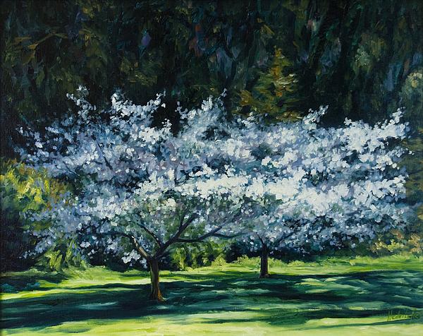 Trees Painting - Golden Gate Park by Rick Nederlof