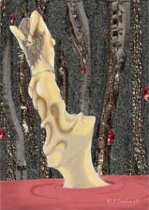 Female Digital Art - Golden by J P Lambert