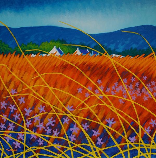Acrylic Painting - Golden Meadow by John  Nolan