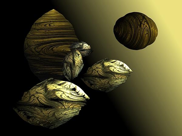 Golden Digital Art - Golden Planet by Ricky Kendall
