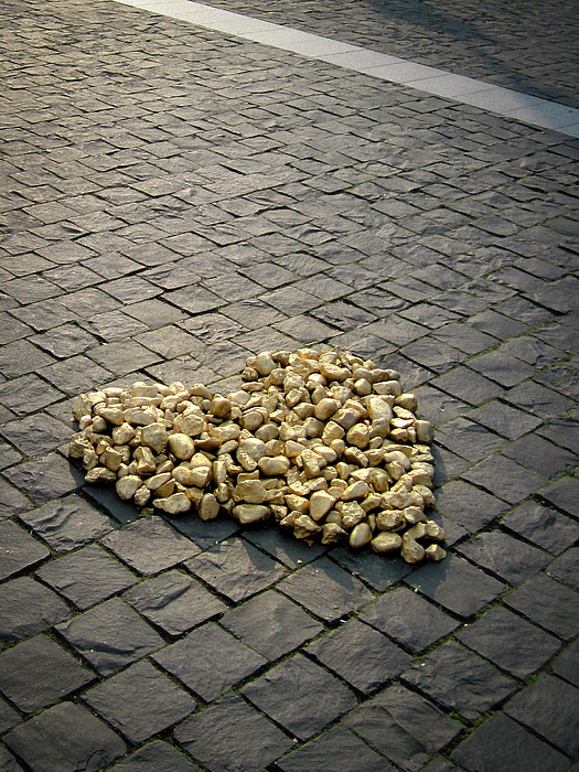 Heart Photograph - Golden Rocky Love by Mary Lee Dereske